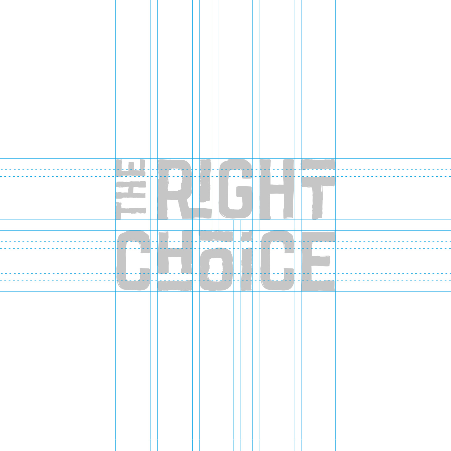 The Right Choice logo opbouw